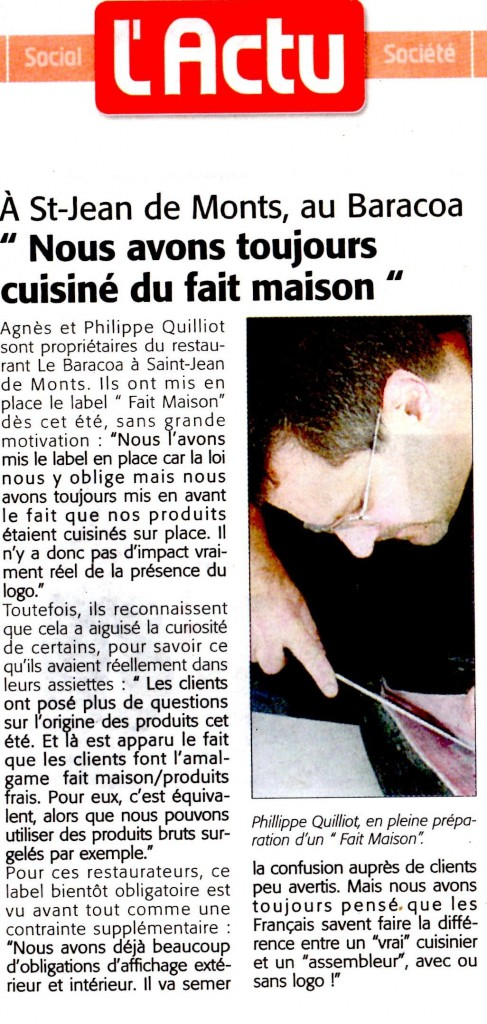 article fait maison courrier vendeen